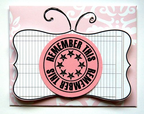 Journal It Girl Butterfly card