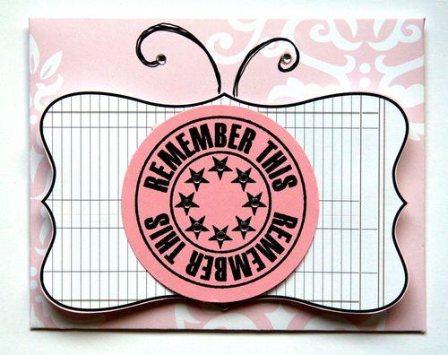 Journal It Girl Butterfly card