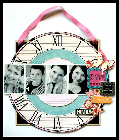 FAmily Clock wall hanging