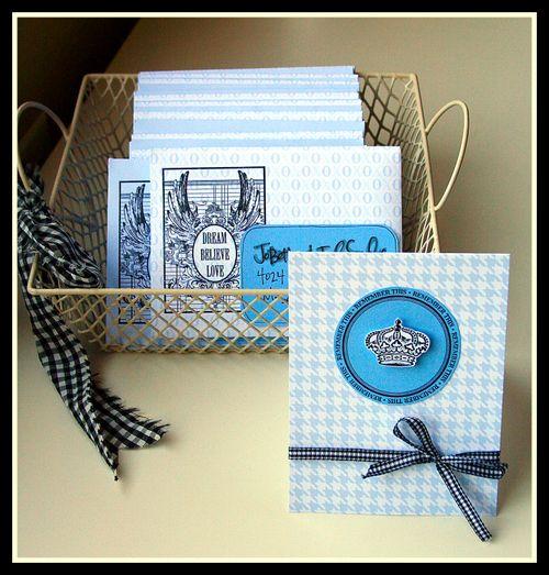 Blue card set
